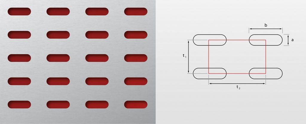 Otw. wydłużone układ prosty Lgerforacji